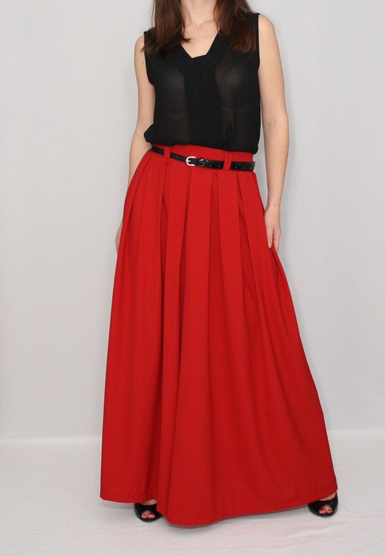 Red Palazzo Pant Fashion Skirt Pants Chiffon Pants By