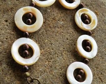 Mother of Pearl Donut Bracelet