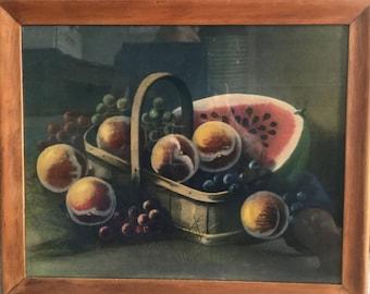 Fruit Still Life, framed