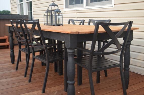 Like this item? - Outdoor Farmhouse Table Harvest Table Farm Table Rustic