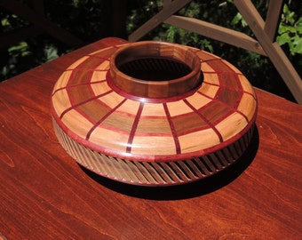 HANDCRAFTED SEGMENTED BOWL