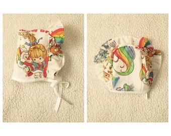 Vintage Rainbow Brite Bonnet