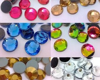 200 Pcs SS50 10MM DMC Iron On Hotfix Flatback Crystal Glass Rhinestones Colors You Pick