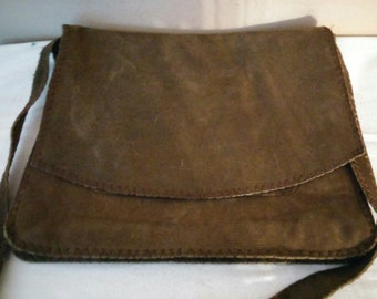 Brown distressed leather purse/messenger bag by Old Gringo