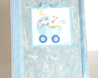 Newborn diary - Boy or Girl - Handmade - Made in Italy