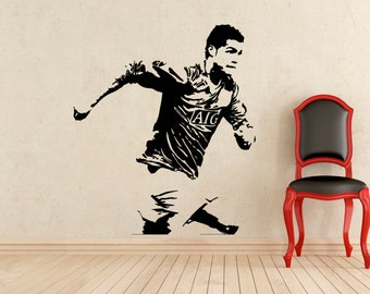 Manchester united decal etsy au for Cristiano ronaldo wall mural