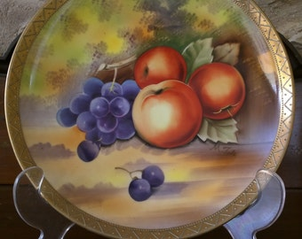 Gibson Original Hand Painted Fruit Plate