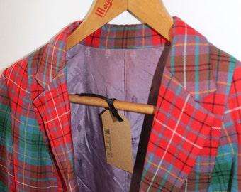 Vintage Check Boyfriend Blazer | Size 8 10 12