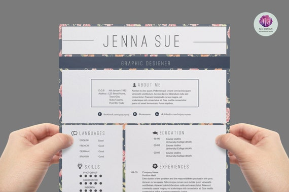 vintage resume template cover letter template reference