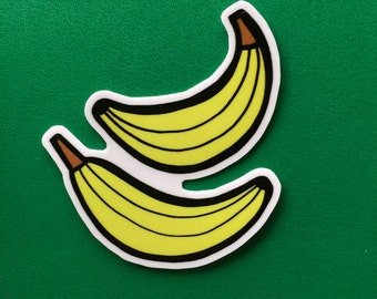 Banana Sticker - Cute Fruit Stickers, Vegan/Kid's Stickers, For Laptops and Notebooks