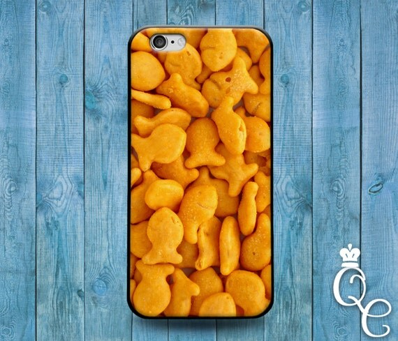 iPhone 4 4s 5 5s 5c SE 6 6s 7 plus iPod Touch 4th 5th 6th Gen Cute Cracker Snack Food Cover Kid Family Fun Funny Phone Case Gold Cool Gift