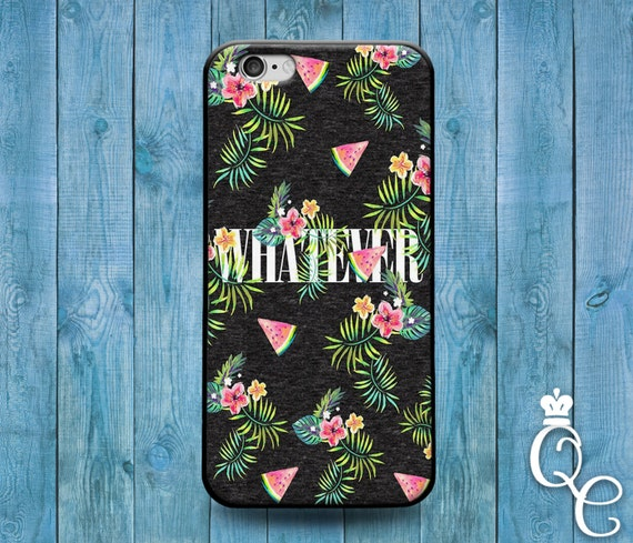 iPhone 4 4s 5 5s 5c SE 6 6s 7 plus iPod Touch 4th 5th 6th Gen Funny Phone Case Watermelon Quote Cute Fruit Collage Whatever Weird Cool Cover