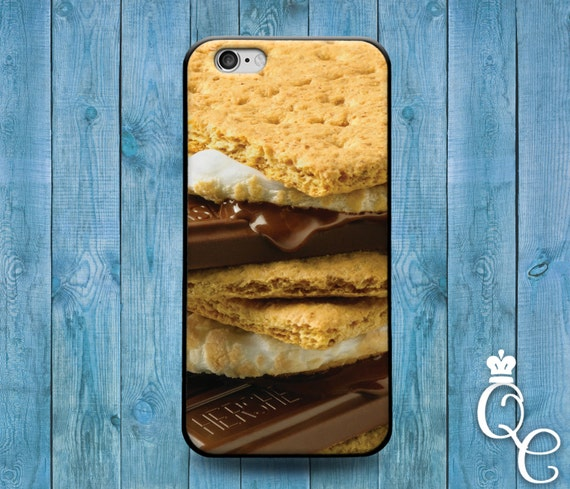 iPhone 4 4s 5 5s 5c SE 6 6s 7 plus iPod Touch 4th 5th 6th Gen Cute Dessert Food Snack Phone Cover Cool Smore Funny Case Marshmellow Cracker