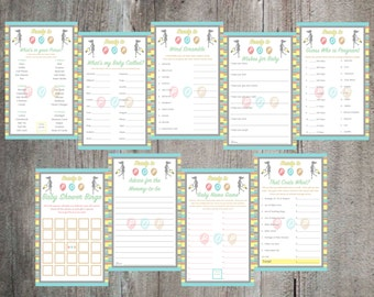 Ready to Pop Theme Baby Shower Game and Advice Card Printable's