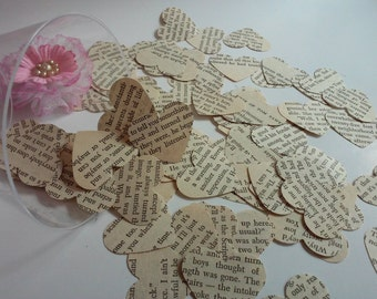 Paper hearts, Wedding confetti, Heart punches, Die cuts, Paper heart confetti, Set of 100