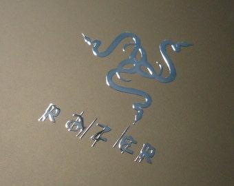 RAZER Label / Aufkleber / Sticker / Badge / Logo 26mm x 35mm [186]