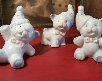 Vintage Tumbling Bear Figurines