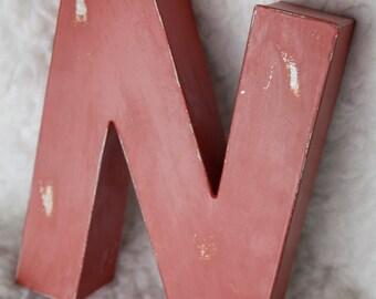 """Red Metal """"N"""""""