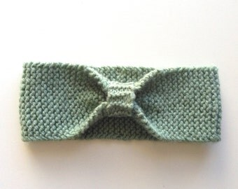 Green knitted headband, baby, toddler, kids, knitted bow headband, kids accessories, hair accessories