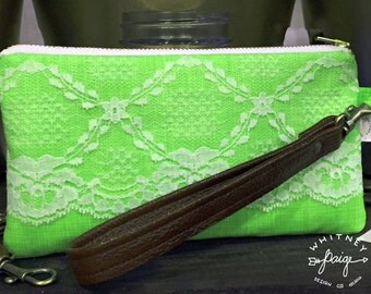Lime Lace Clutch