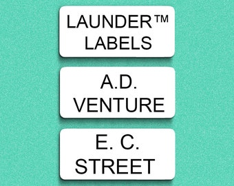 72 Stick On Clothing Labels - Custom Print Personalised LAUNDER™ Labels