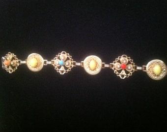 Multi-Colored Cabachon Bracelet