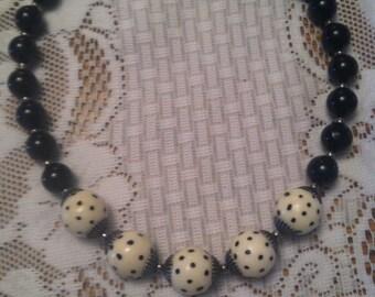 Handmade Polka Dot Necklace