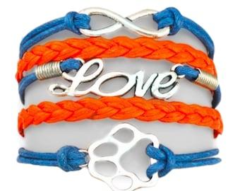 I love my dog (blue and orange)