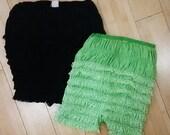 1950s Ruffle Panties / Vintage Lingerie / 50s panties / High Waist Panty