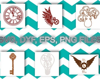Steam Punk Svg, Dxf, Eps, & Png files