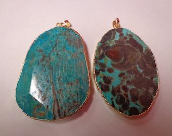 Blue Tierr Jasper Pendant