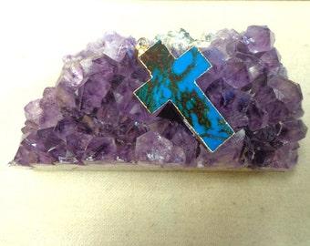 Beautiful Tierra Jasper Cross Pendant