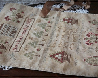 Mary Blair Sampler / Cross stitch sampler pattern / Original design by SubRosa/ PDF