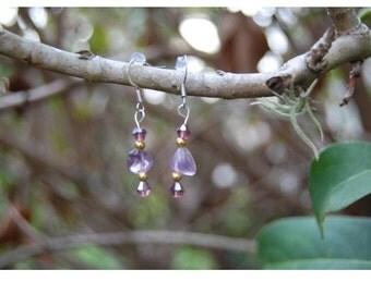 Ametrine | Ametrine Earrings | Gemstone | Healing Jewelry | Spiritual Jewelry | Purple Earrings | Gold Earrings | Nickel Free | Handmade