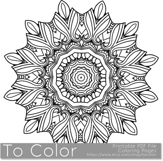 Items Similar To Printable Coloring Page For Adults