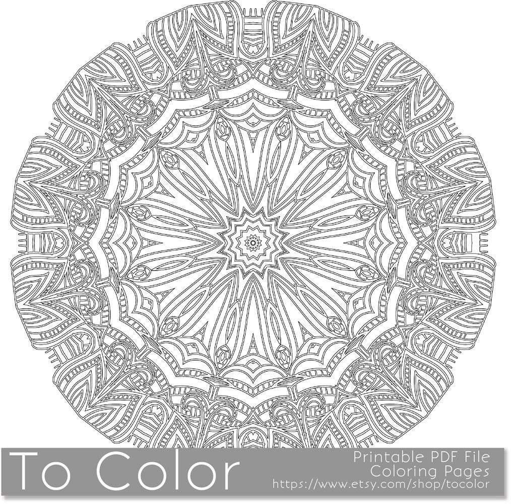 intricate mandala coloring pages - photo#19