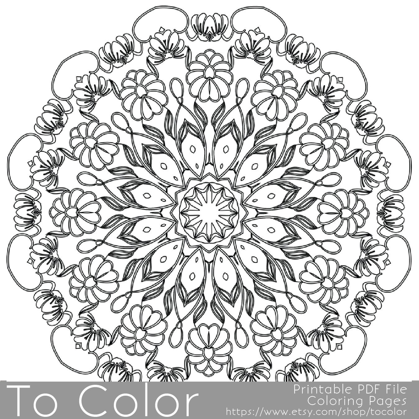 Coloring Pages For Adults: Intricate Printable Coloring Pages For Adults Gel Pens By