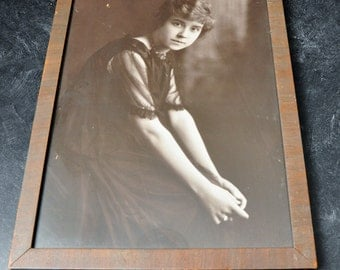 Vintage Photograph Women Framed Mrs.Bunke