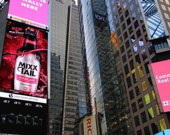 Photography of New York City, Times Square sign, print, high quality
