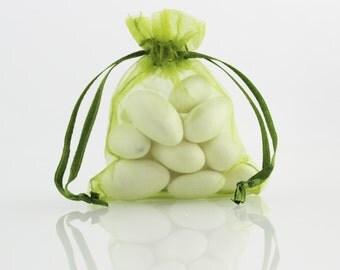 6 x 8 Olive Green Organza Bag // 6 x 8 in // Organza Bags // BBBsupplies {CR-O-V003}