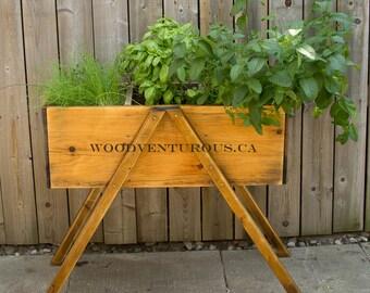 Rustic outdoor planter box