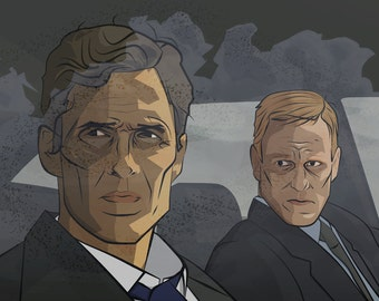 True Detective: Rust and Marty Inspired Print