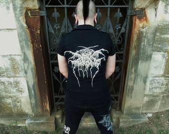 dark throne black metal vest