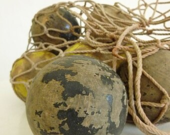 Wonderful old wooden Croquet balls... CHARMANT!