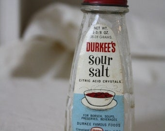 Durkee's Sour Salt Bottle 1950s