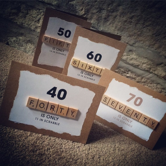 Scrabble Birthday Cards For That Special / Big One 30th 40th