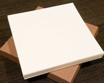 20 Blank Square Cards - FREE SHIPPING - 140lb Paper Strathmore Watercolor Thick Handmade Zentangle Artist Tiles Drawing Painting Supplies