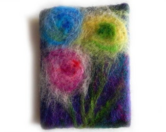 Felted book cover made of 100% wool.