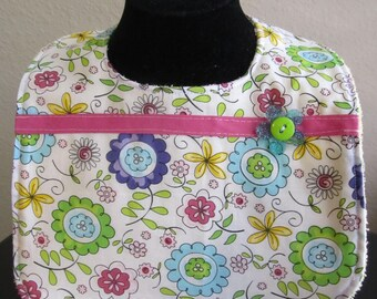 Baby Girl Flower Bib