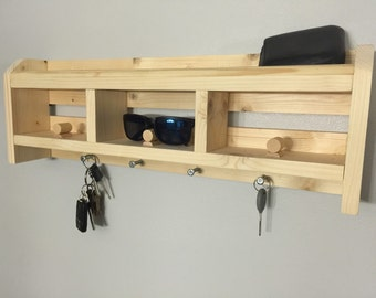 Wood Sunglass Holder for wall! A great gift for a new home, birthday, anniversary, wedding, or for yourself!